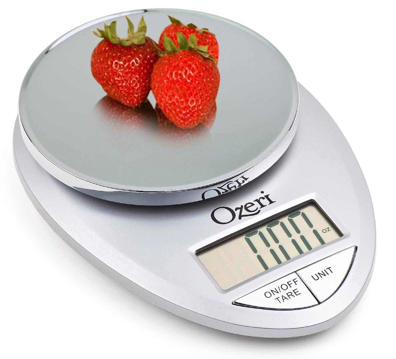 Amazon.com: Ozeri Pro Digital Kitchen Food Scale, 1g to 12 lbs ...