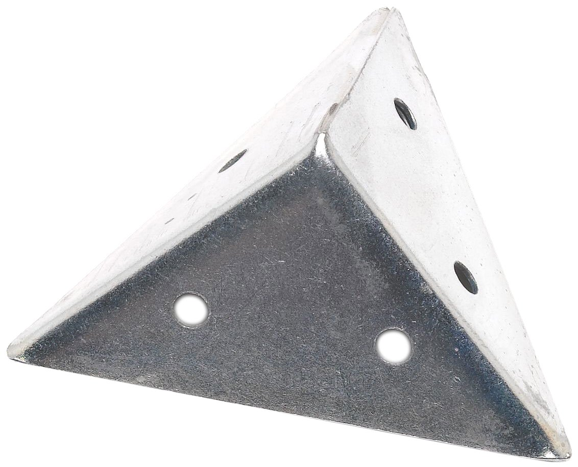 Bulk Hardware BH01162 Zinc Plated Pyramid Corner Angle Bracket Brace Plate, 45 mm (1.3/4 inch) - Pack of 4