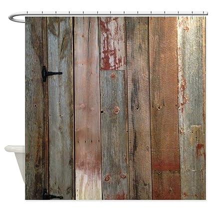 Amazon CafePress Rustic Western Barn Wood Decorative Fabric