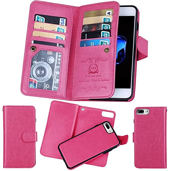 best website e9fc5 e98e3 iPhone XR Wallet Case, iPhone 10R Detachable Case, Soundmae Multi-Function  2-in-1 Magnetic Separable PU Leather Wallet Case Flip Cover with Credit ...