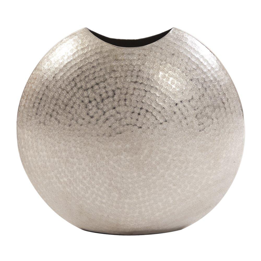 CDM product Howard Elliott 35045 Frosted Silver Metal Vase, Large big image