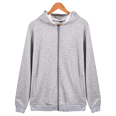 b8713a866 Olive Tayl Solid Hoodies Women Hooded Sweatshirt Zipper Jacket Plain Fleece  Streetwear for Girl Winter Autumn Gray S at Amazon Women's Clothing store:
