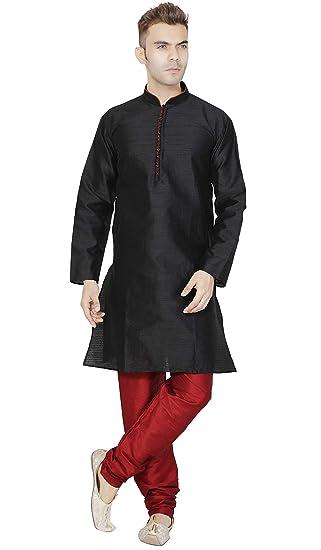 ea7f477513 Mens Long Sleeve Kurta Pyjama Set Indian Clothing Dress  Amazon.in ...