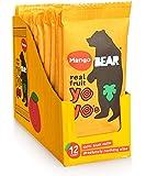 BEAR - Real Fruit Yoyos - Mango - 0.7 Ounce (12 Count) - No added Sugar, All Natural, non GMO, Gluten Free, Vegan…
