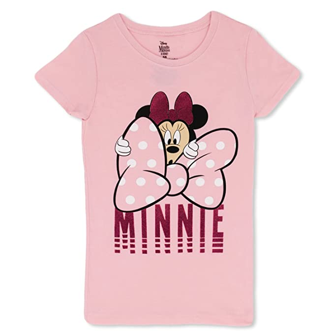 681cf5fc611 Image Unavailable. Image not available for. Color  Minnie Mouse Girls T- Shirt - Cute Disney ...
