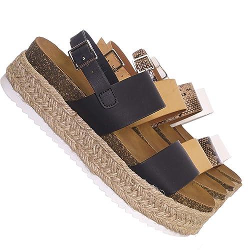 3f05d34dbf4 70s Retro Jute Wrap Espadrille Flat Platform Flatform Sandal, Treaded Sole