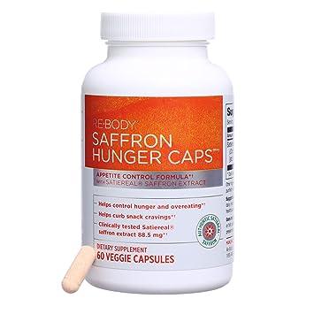 Re-Body - Saffron Hunger Caps, Appetite Control Formula, 60 Veggie Capsules