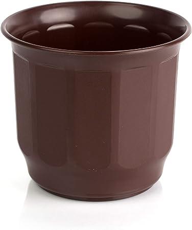 Amazon Com Kimmel Flower Pot Diameter 15 Cm With Hole Brown Medium Garden Outdoor