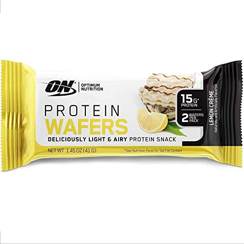 Optimum Nutrition New Optimum Nutrition Protein Wafer Bars, Low Sugar, Low Fat, Flavor Lemon Cream, 9 Count