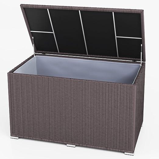 extrem auflagenbox polyrattan braun wasserdicht ot56 kyushucon. Black Bedroom Furniture Sets. Home Design Ideas