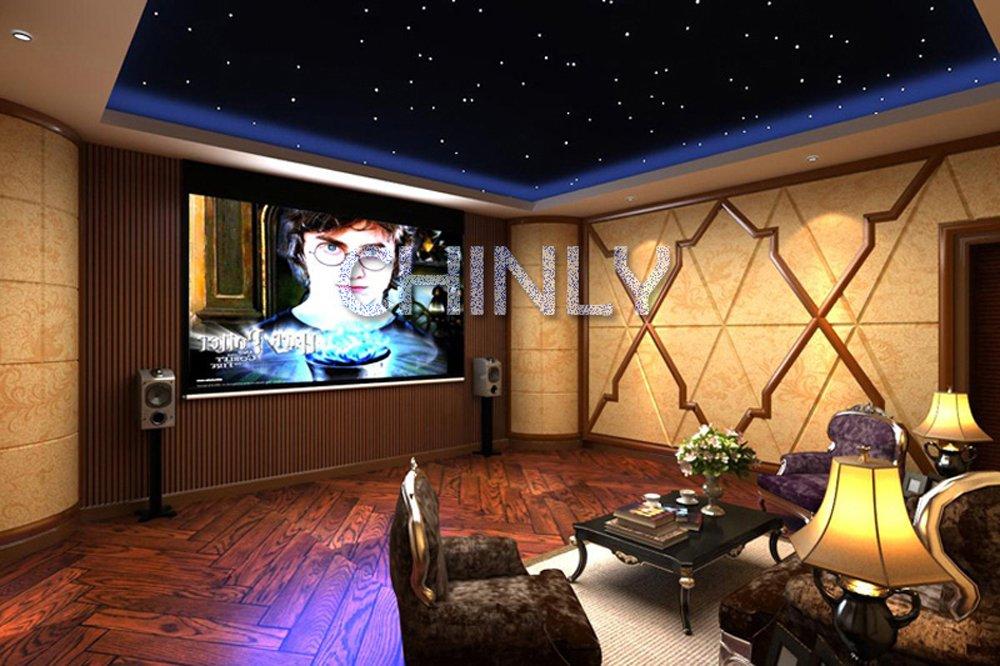 CHINLY 16W RGBW LED Fiber optic light Star Ceiling Kit Lights 150pcs 0.75mm 2m optical fiber lighting+RF 28key Remote engine