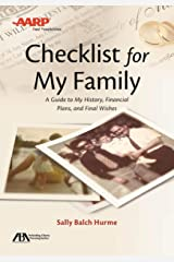 ABA/AARP Checklist for My Family: A Guide to My History, Financial Plans and Final Wishes Paperback
