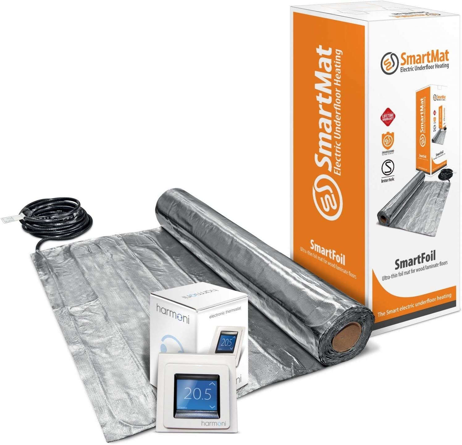 SmartFoil 140w//m2 Electric 9.0m2 1260w, Thermostat Choice - Mat Only Electric Underwood Foil Heating Mat Kit