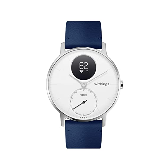 Withings Bracelet en Cuir Mixte Adulte, Bleu: Amazon.fr: Sports et Loisirs