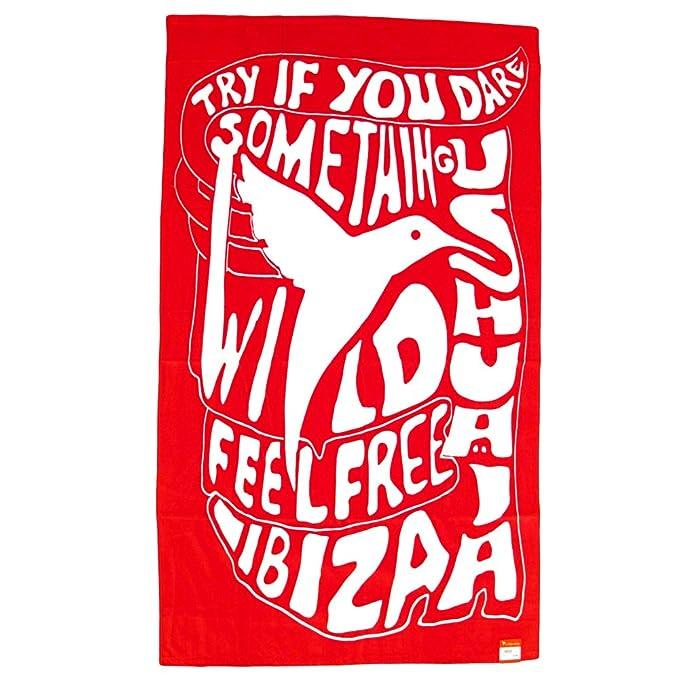 Ushuaia Ibiza: Colibrí Wild Toalla de Playa grande - Rojo, Talla única: Amazon.es: Ropa y accesorios