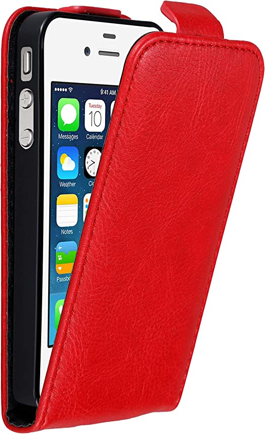 Cadorabo Étui à rabat pour Apple iPhone 4/4S, Apple iPhone 4 / iPhone 4S