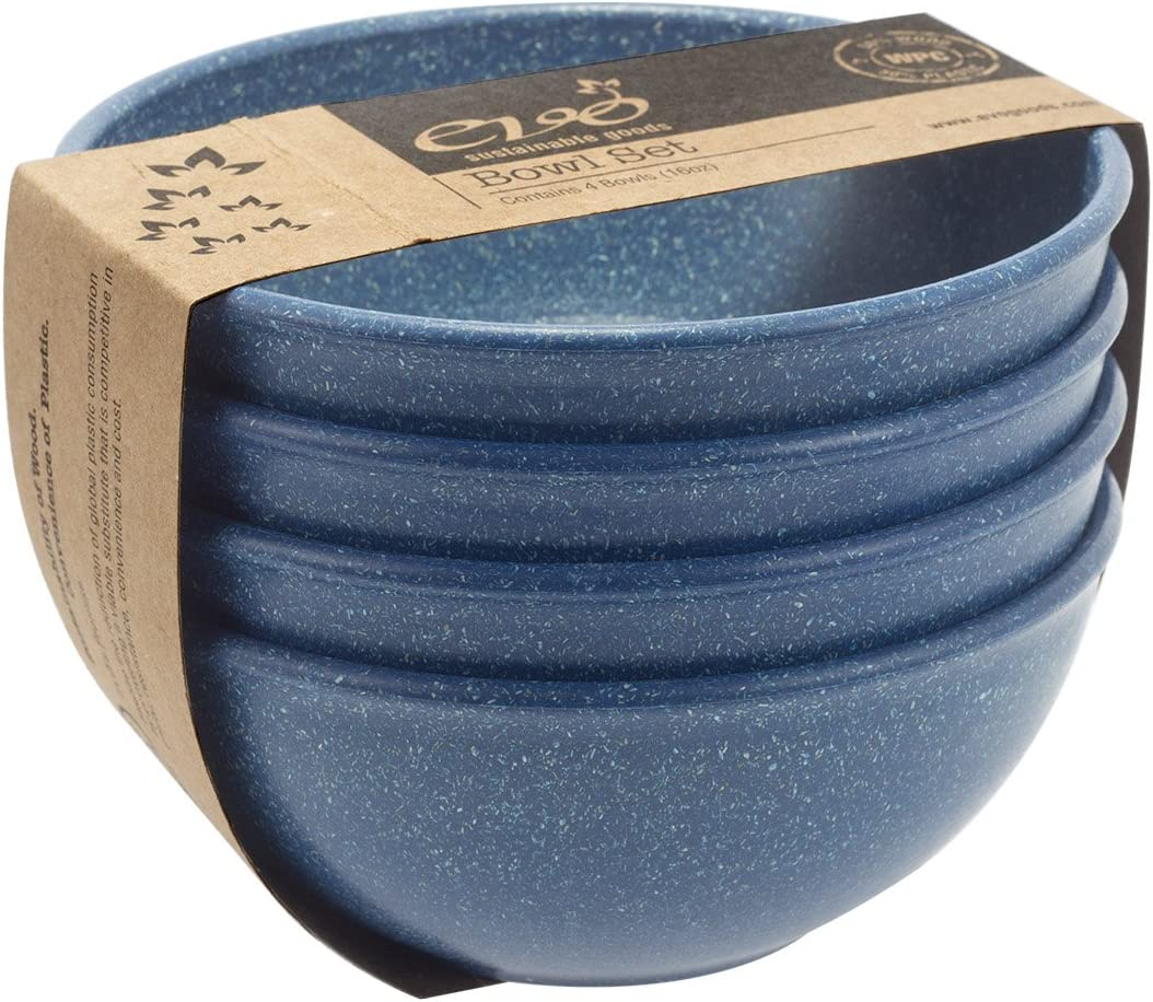 EVO Sustainable Goods 16 oz. Bowl Set, Blue