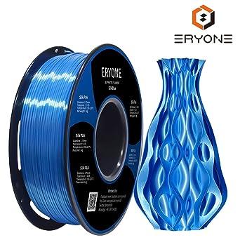 PLA Filamentos 1.75mm Seda azul, Eyone Seda Brillante 3D Impresora ...