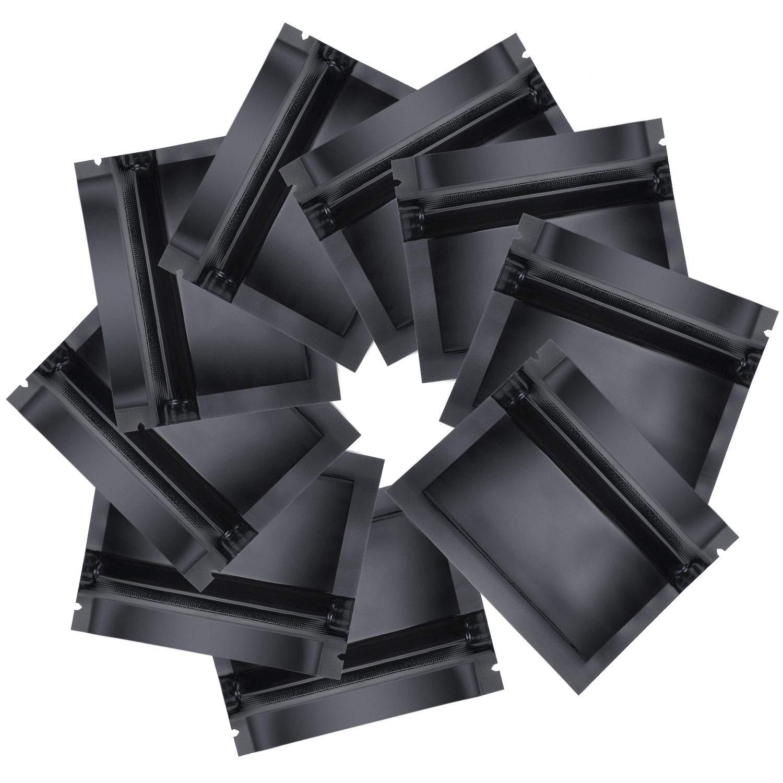 Mattschwarz Geruchssichere Beutel Folien Beutel Flacher Druckverschluss Beutel f/ür Alltag oder Party Bedarf 3.0 x 2.6 Zoll 100 St/ücke Wiederverschlie/ßbare