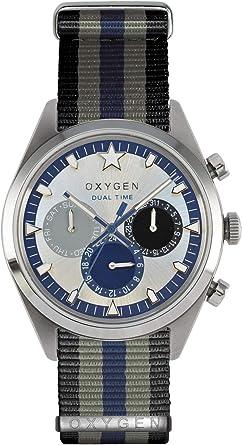 Oxygen EX-SDT-Pac-BLGRNA - Reloj analógico de Cuarzo Unisex, Correa de Nailon Multicolor
