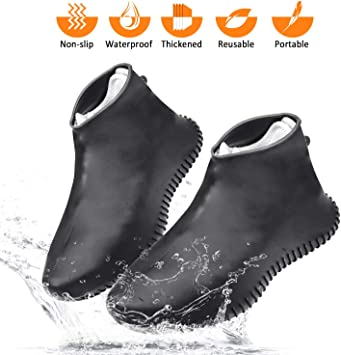 1 Pair Silicone Waterproof Overshoes Rain Shoe Covers Boot Cover Protector 2019