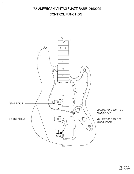 71I4G4gF5fL._SX522_ amazon com fender '62 jazz bass guitar loaded concentric control,Tone Pot Capacitor Wiring Diagram