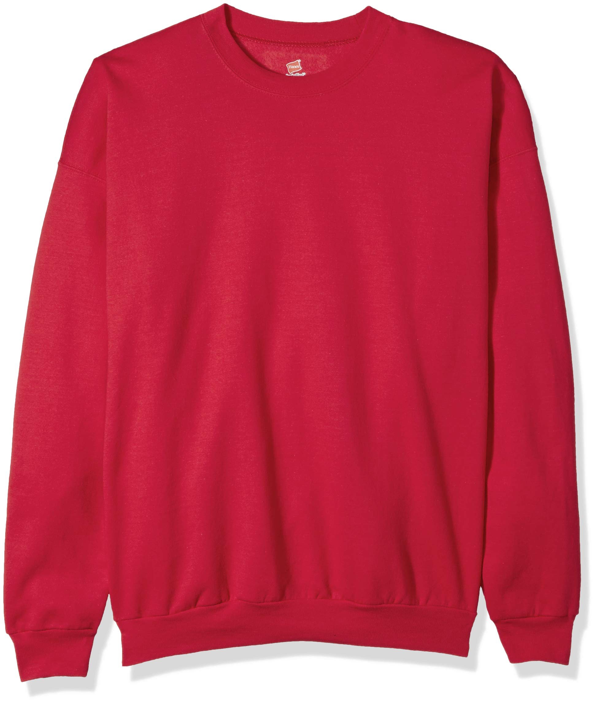 Hanes Men's EcoSmart Fleece Sweatshirt, Deep Red, 3XL