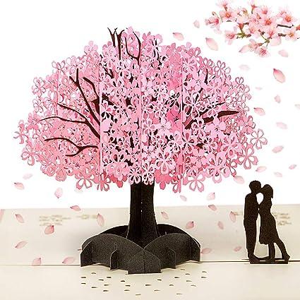 Anniversario Matrimonio Auguri Romantici.3d Biglietti Auguri 3d Pop Up San Valentino Biglietti Di Auguri