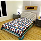 RajasthaniKart Cotton Bedsheet - Single, Multicolor