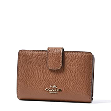 2e2c73b212f59 Amazon.com  COACH Crossgrain Leather Medium Corner Zip Wallet Clutch  (Saddle)  SNJ AMERICA Co.