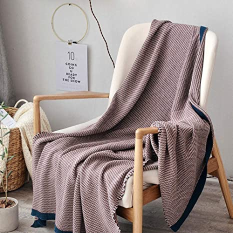 Amazon.com: blanket Cotton Solid Color Wool Simple Wool Ball ...