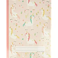 Unicorn Flowers - Primary Story Journal: Dotted Midline and Picture Space   Grades K-2 Composition School Exercise Book…