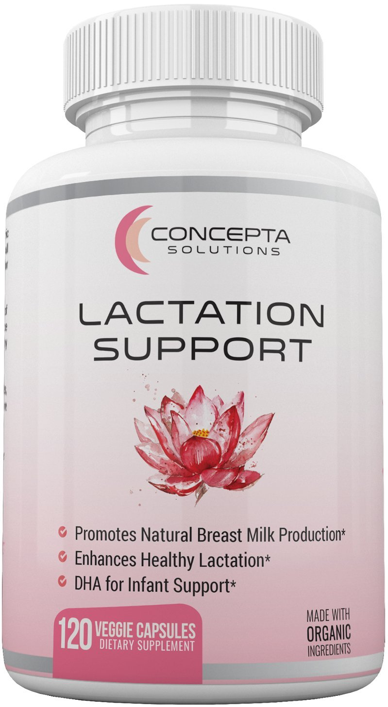 Concepta Milk Flow Lactation Support 60 Day Supply Herbs Of Gold Breastfeeding Tablets Supplement For Increased Breast 100 Organic Goats Rue Fenugreek