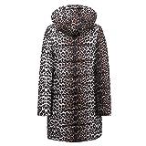 AOJIAN Women Jacket Long Sleeve Outwear Leopard