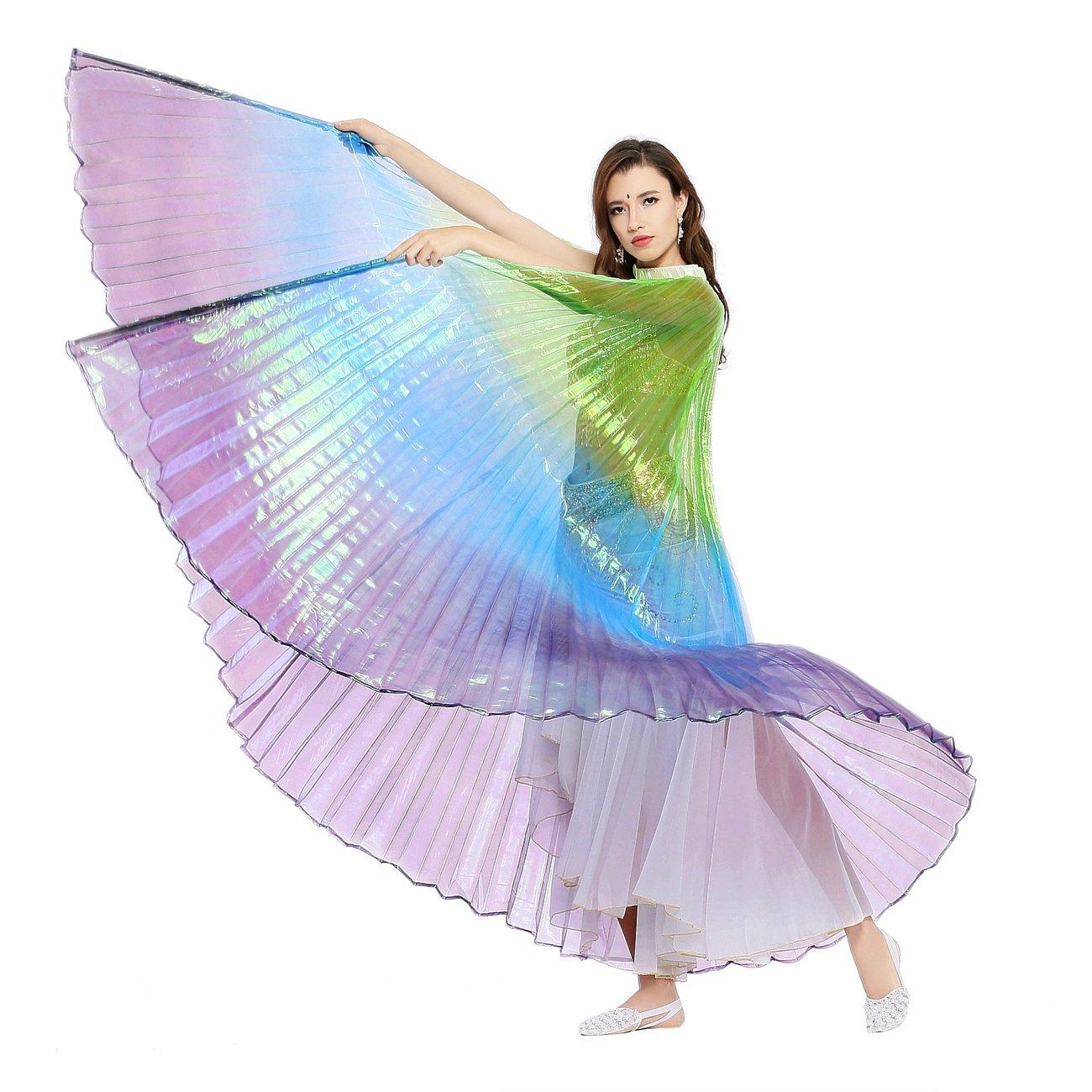 Dance Fairy Alas de Isis de Danza del Vientre Colorido No.#9 ( con Palillos / Palos )