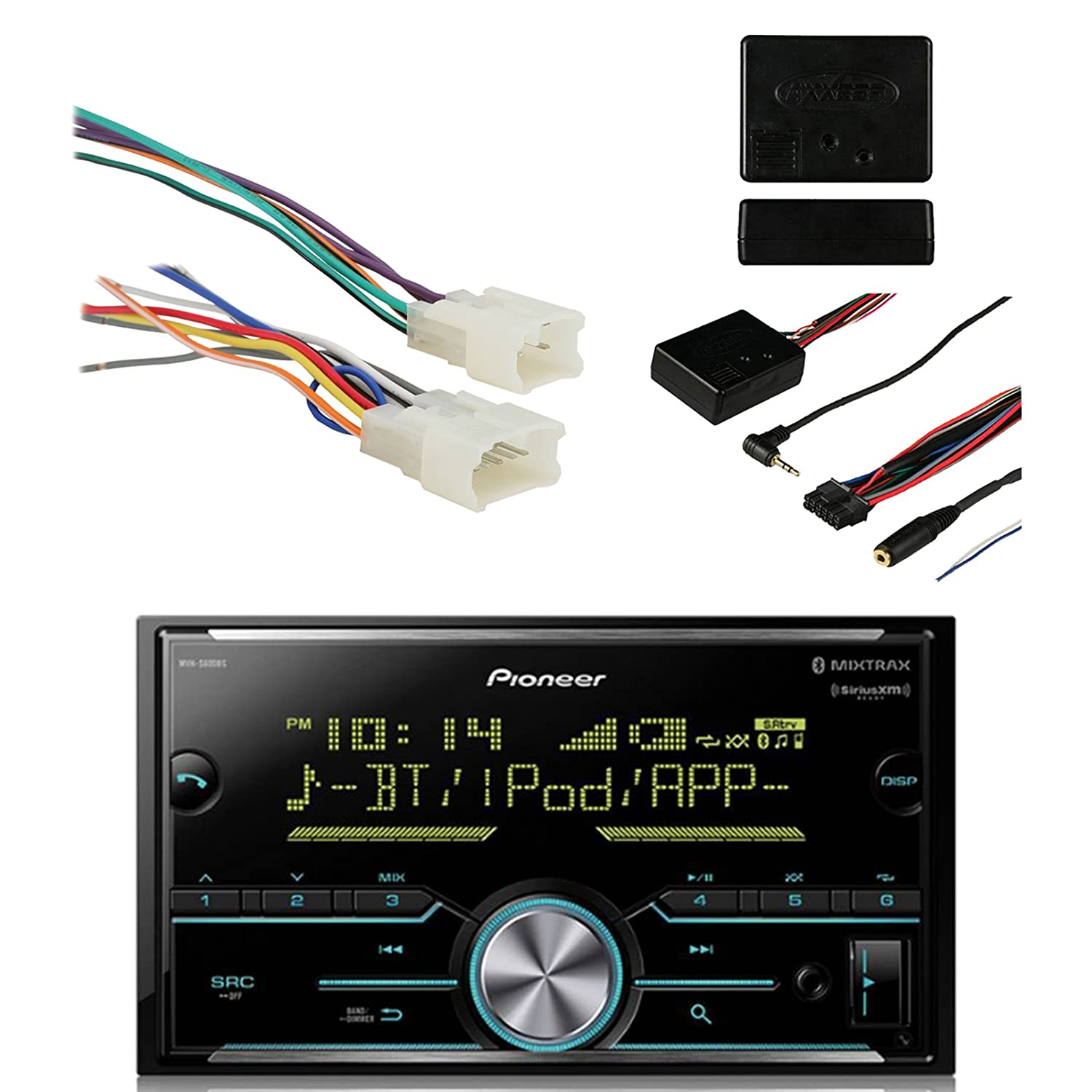 Pioneer Vehicle Digital Media Double Din Receiver With Jvc Wiring Harness Nz Bluetooth Black Metra Radio For Toyota 87 Up Power 4 Speaker And