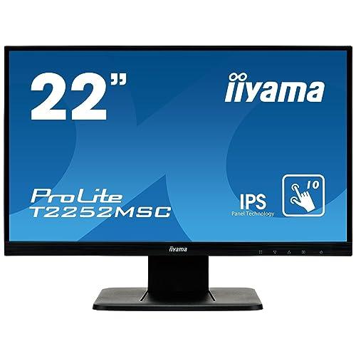"Iiyama T2252MSC-B1 Ecran PC 21,5"" LED 1920 x 1080 7 ms DVI/HDMI/VGA"