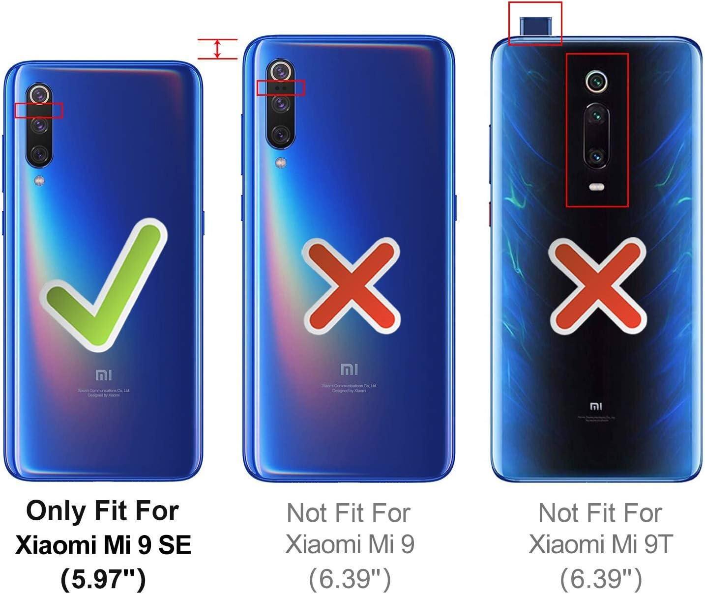 HOOMIL Funda para Xiaomi Mi 9 SE, Funda de Cuero PU Premium Carcasa para Xiaomi Mi 9 SE Smartphone (Negro): Amazon.es: Electrónica