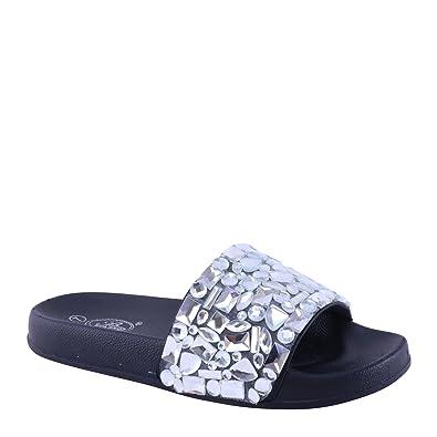 8dd73506cfa Brieten New Women s Studded Platform Slide Sandals (6