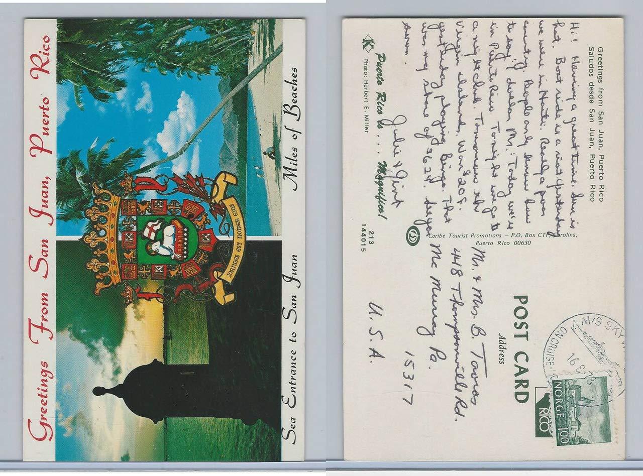 Postcard Puerto Rico Greetings From San Juan Norway Cruise Ship