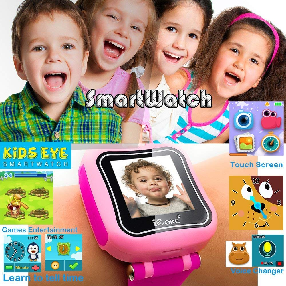 iCore Durable Kids Smartwatch, Electronic Child Smart Watch Video Games, Children Digital Tech Watches, Touch Screen Learning Timer Alarm Clock with Camera for Girls Boys by iCore (Image #4)