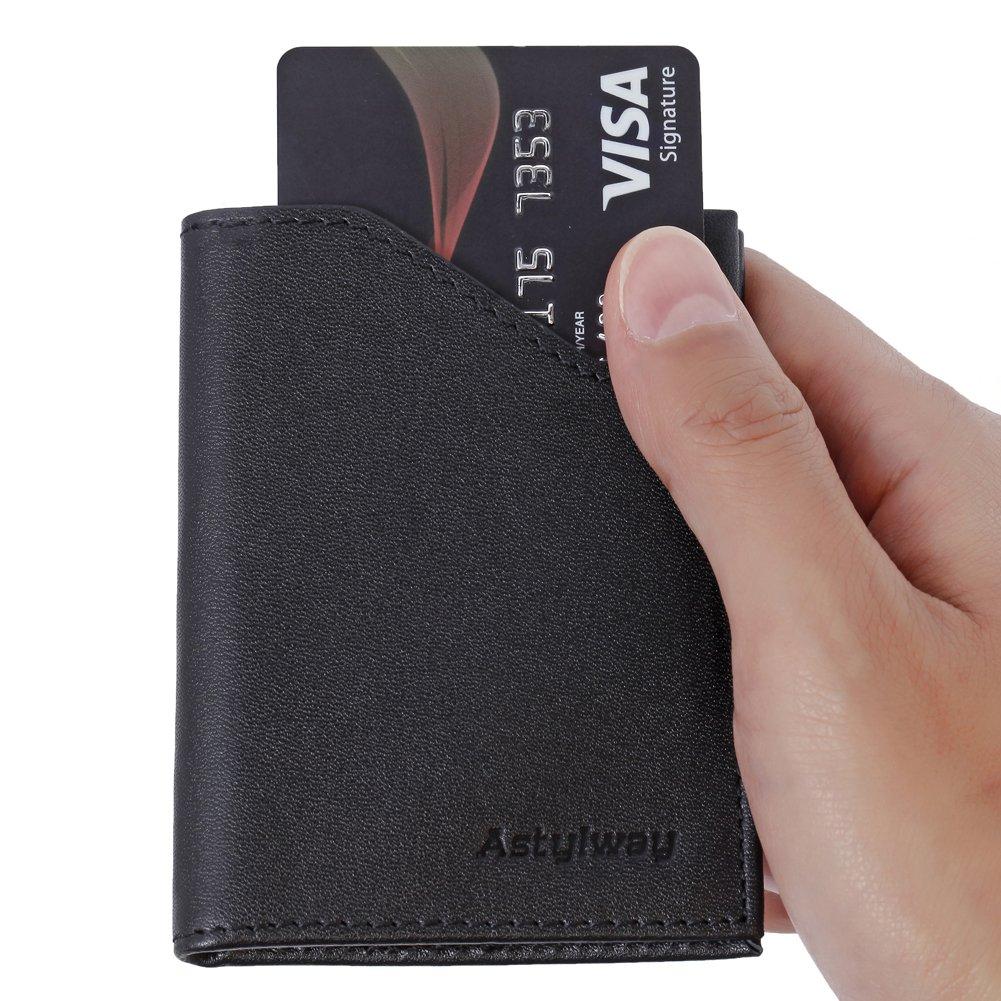 Amazon.com: Bolsillo frontal portafolios para hombre RFID ...