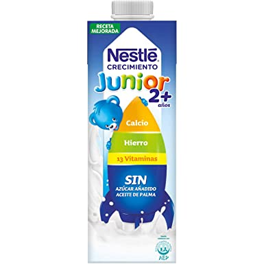 Nestlé Junior 2+ Original - Leche para niños a partir de 2 años ...