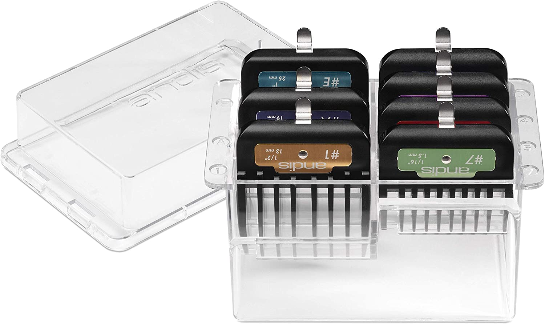 Andis 7Piece Premium Clip Animal Comb Set for #10 Blade, Multi Colored, 33655
