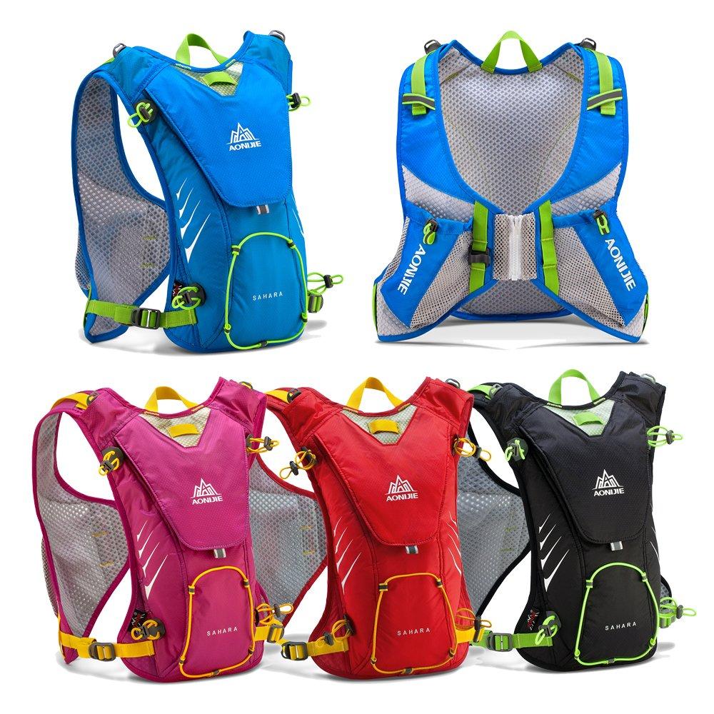 e5943d93b725 Aonijie E902 Ultralight Waterproof 8L Hydration Backpack Vest For Outdoor  Running Hiking Marathon (Black)  Amazon.co.uk  Sports   Outdoors