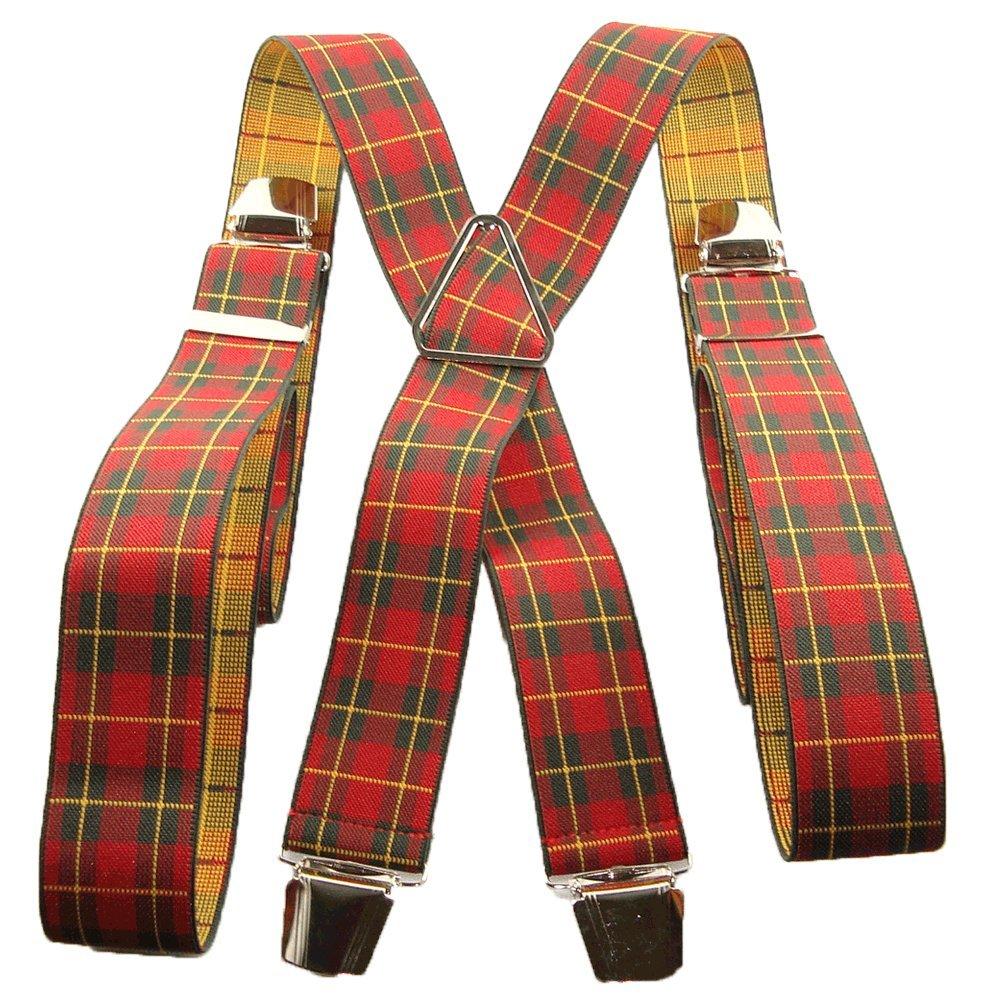 Bretelle écossais rouge et jaune