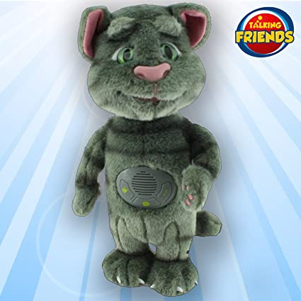 New Talking Tom Interactive Cat Superstar Friend Toy Game 33.5cm 13inch Repeat What You Say