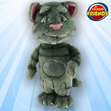 TALKING TOM AND FRIENDS, Talking Friends Toy de Peluche con increíbles Efectos de Sonido,