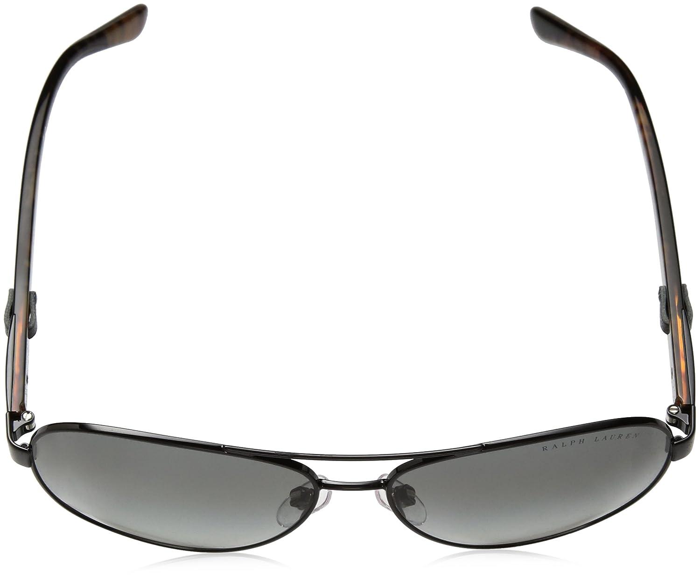 Womens 0RL7054Q 900311 Sunglasses, Shiny Black/Gradientgrey, 59 Ralph Lauren