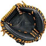 ZETT(ゼット) 硬式/軟式野球 キャッチャーミットタイプ トレーニンググラブ 右投げ用ブラック×オークブラウン(1936) BPCB17912